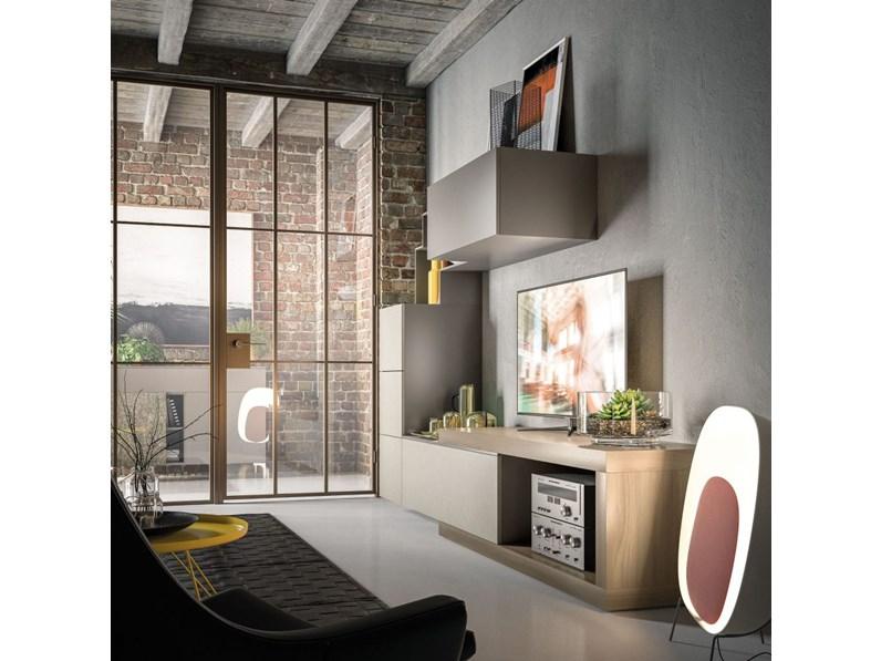 Soggiorno completo orme day 10 mottes mobili artigianale for Mobili soggiorno design outlet