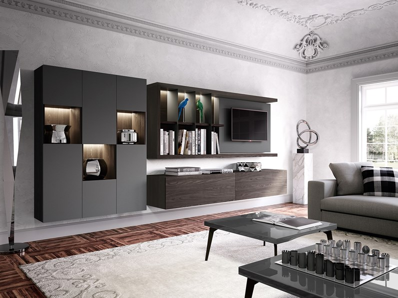 Soggiorno completo skyline 2 0 astor mobili offerta outlet for Offerta mobili