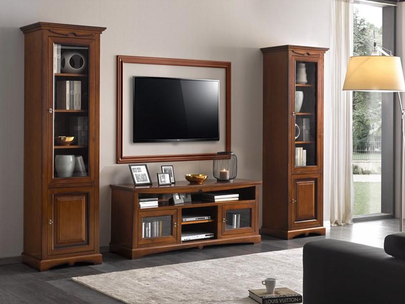 Soggiorno completo Soggiorno in legno stile classico mottes mobili  Artigianale in stile classico a prezzo ribassato