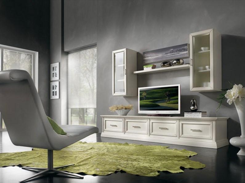 Soggiorno completo Soggiorno living in legno mottes mobili ...
