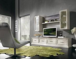 Soggiorno completo Soggiorno living in legno mottes mobili Artigianale in legno a prezzo Outlet