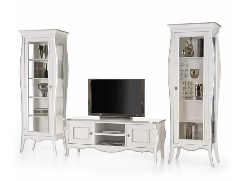 Soggiorno completo Soggiorno satinato bianco mottes mobili Artigianale in  stile classico a prezzo ribassato