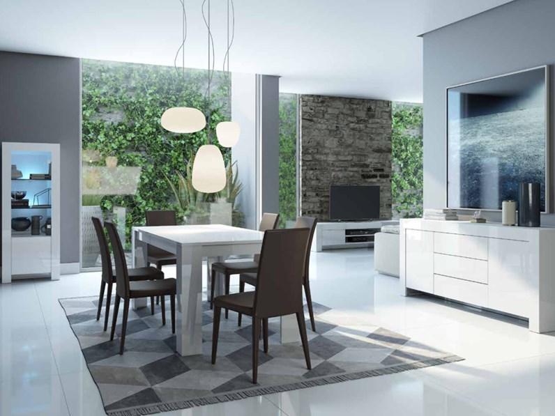 Soggiorno completo stile moderno modello Max Bianco Laccato cod. 66