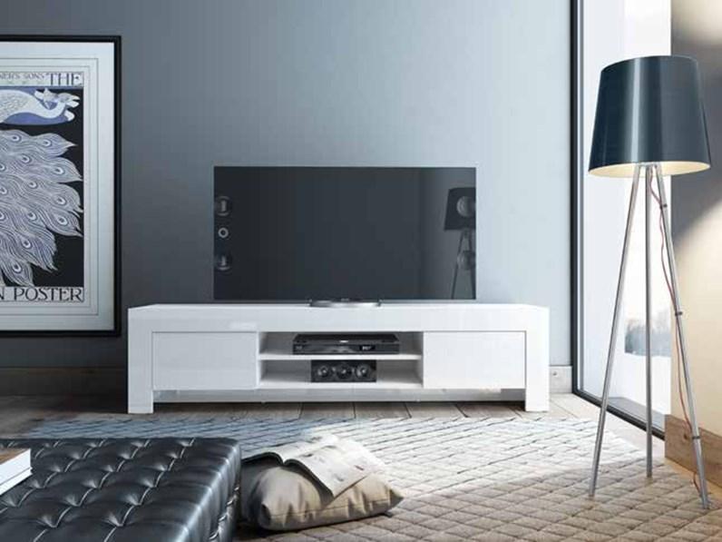 Soggiorno completo stile moderno modello max bianco for Soggiorno stile moderno