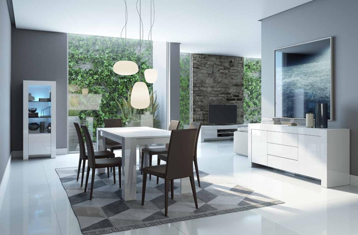 Soggiorno completo stile moderno modello max bianco Soggiorno stile moderno