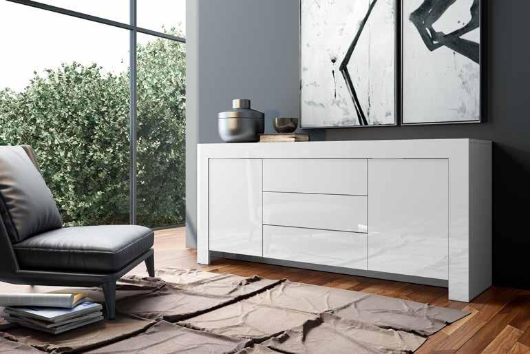 Soggiorno completo stile moderno modello Max Bianco Laccato cod. 66 - Soggiorni a prezzi scontati
