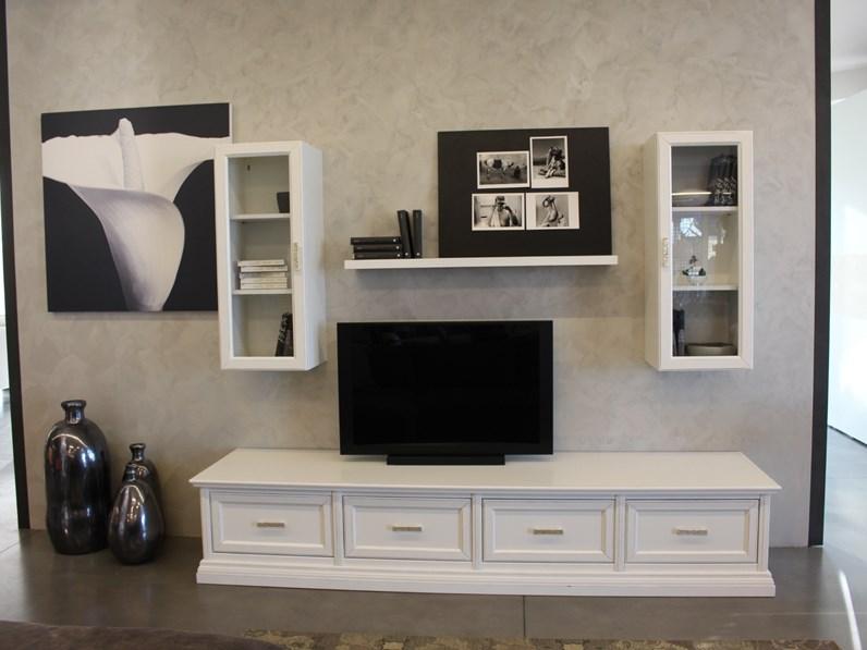 Soggiorno completo Style Delta mobili in legno a prezzo Outlet