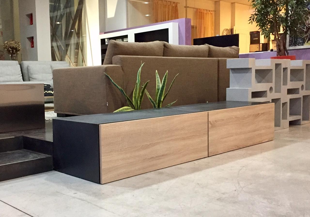 Soggiorno componibile porta tv modello iron ronda for Mobile porta tv lago