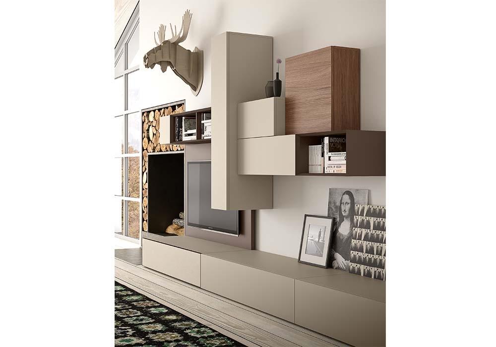 Soggiorno componibile spazio composizione b soggiorni a - Pianca mobili soggiorno ...