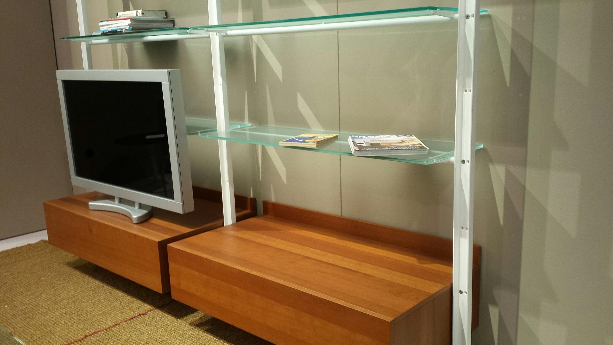 Soggiorno desalto armida legno librerie design soggiorni for Librerie design outlet