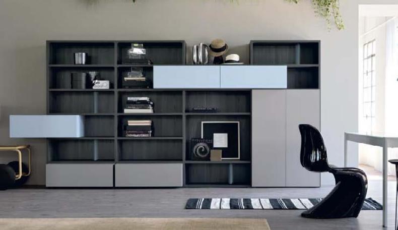 Mobili tv e librerie attrezzata con libreria cassettone e - Librerie mobili prezzi ...