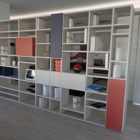 Soggiorno Doimo CityLine Libreria bifacciale over laminato laccato Laminato M...