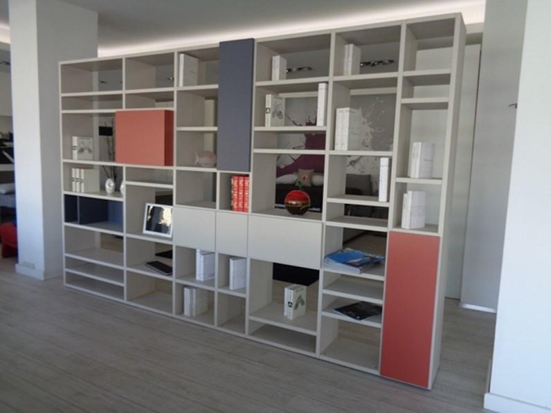 Soggiorno doimo cityline libreria bifacciale over laminato for Librerie design outlet