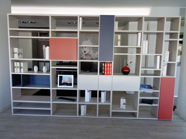 Soggiorno doimo cityline libreria bifacciale over laminato - Librerie mobili prezzi ...