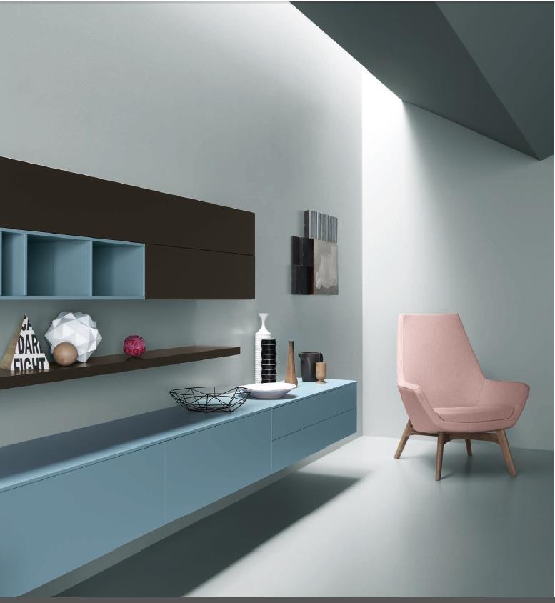 Best soggiorno parete attrezzata images acrylicgiftware for Libreria bianca economica