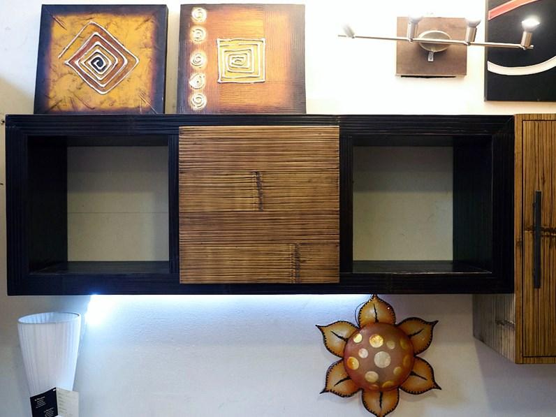 Soggiorno etnico moderno essential legno e bambu in - Soggiorno stile etnico ...