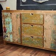 Soggiorno Etnico Outlet Mobile in legno riciclato india wood in offerta nuovimondi outlet