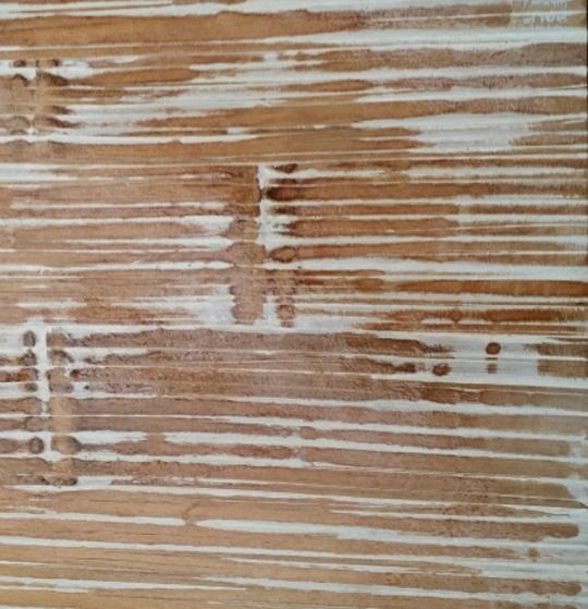 soggiorno etnico vintage in legno e bambu miele white wash - Soggiorni ...