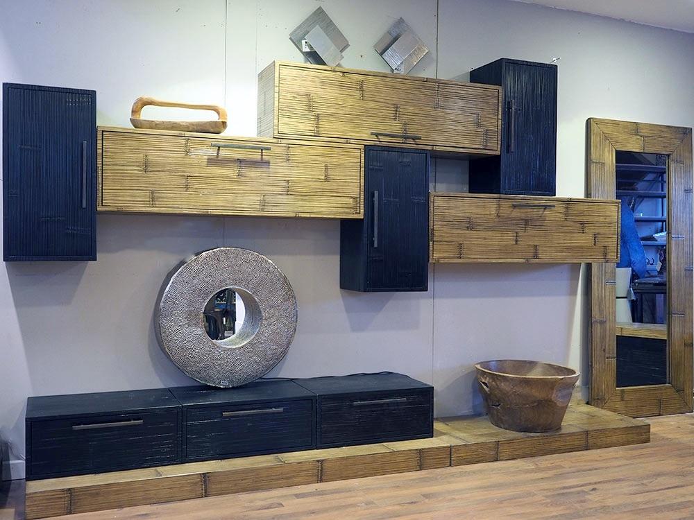 soggiorno expo essential moderno essenza miele e black ...
