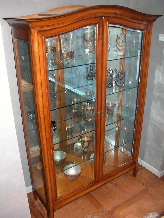Grande arredo soggiorno vetrinetta cristalliera legno for Vetrina soggiorno