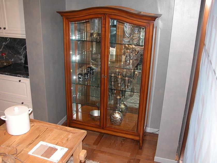 Grande arredo soggiorno vetrinetta cristalliera legno for Legno arredo