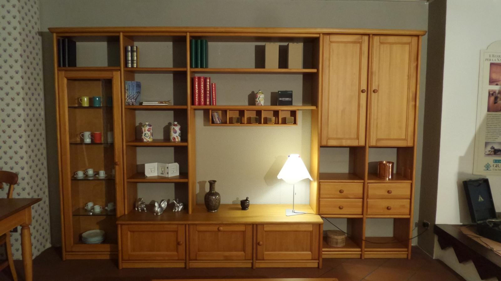 Soggiorno grattarola canard legno pareti attrezzate for Soggiorni pareti attrezzate