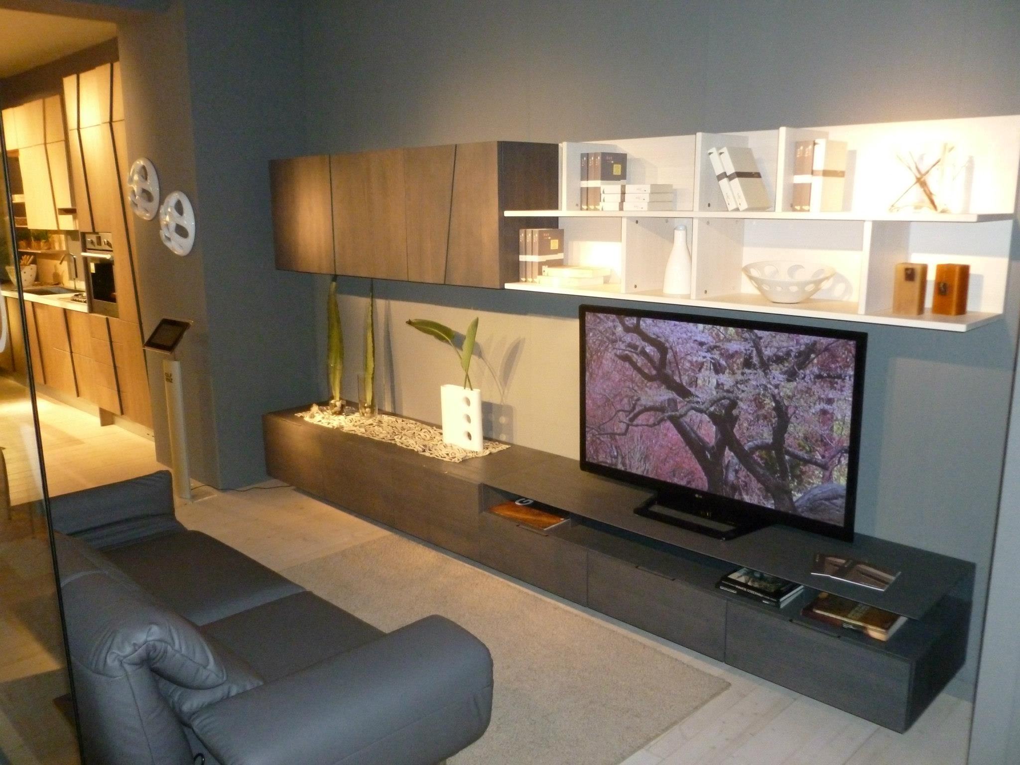 Parete attrezzata divisoria per soggiorno - Pareti attrezzate design ...