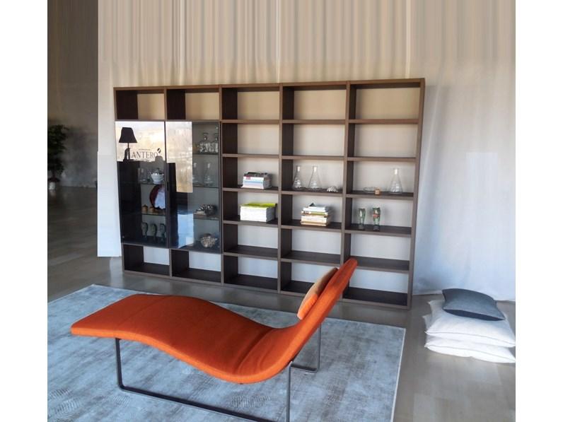 Soggiorno Jesse Libreria soggiorno studio legno rovere termotrattato ...