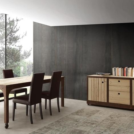 Soggiorno la seggiola madia legno e corten legno madie for Madie design outlet