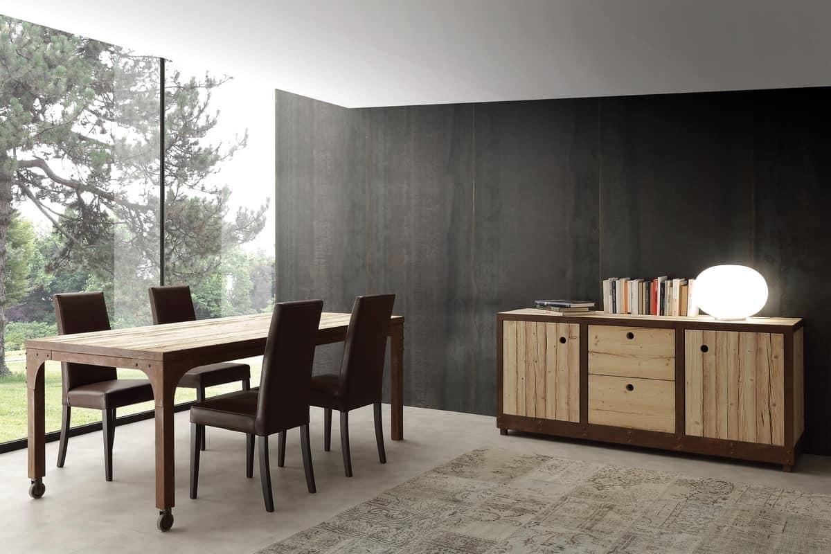 Soggiorno La Seggiola Madia legno e corten Legno Madie Design - Soggiorni a prezzi scontati