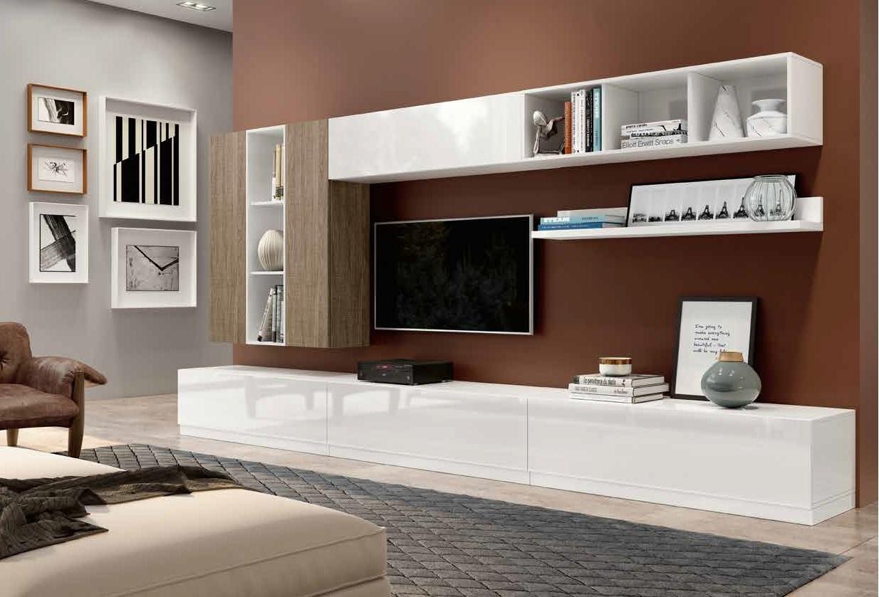 Soggiorno laccato e olmo 2 colori fine produzione - Imbiancare soggiorno colori ...