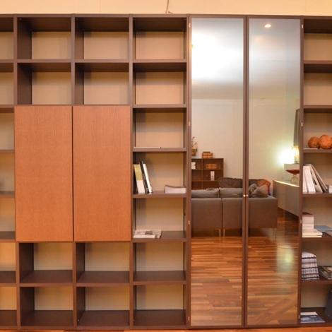Soggiorno lema libreria selecta laccato opaco librerie for Matteuzzi arredamenti