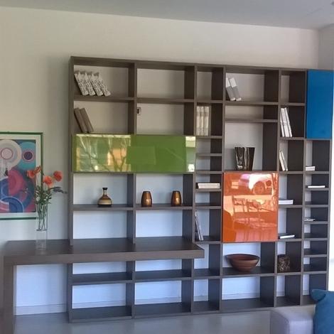 Soggiorno lema selecta legno librerie design soggiorni a for Librerie design outlet
