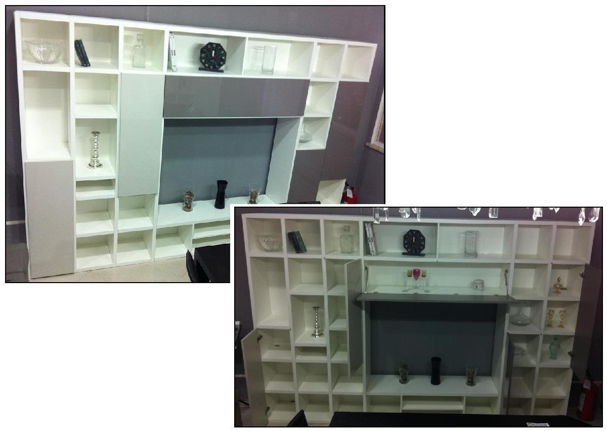 soggiorno-libreria 3.2 bianco - soggiorni a prezzi scontati - Mobili X Soggiorno Usati 2