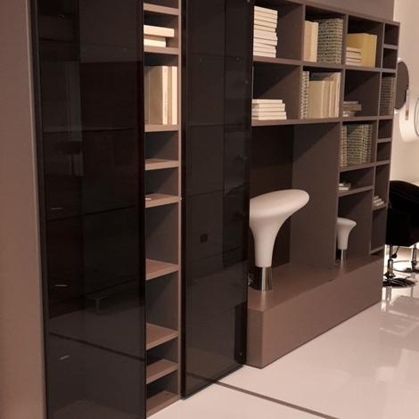 Soggiorno libreria laccato opaco con vetrine soggiorni a for Visma arredo ufficio