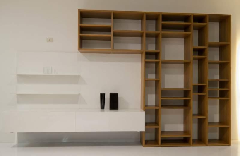 Mobile soggiorno design moderno finitura laccato lucido con soggiorno libreria luce laccato - Libreria salotto e soggiorno ...