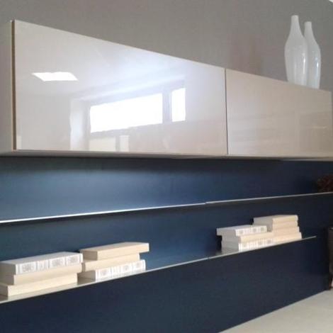 mobile tv lube : Soggiorno Lube modello Brava composta da basi legno rovere bianco ...