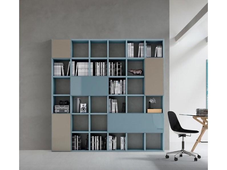 Libreria moderna slim da soggiorno design maronese for Librerie design outlet