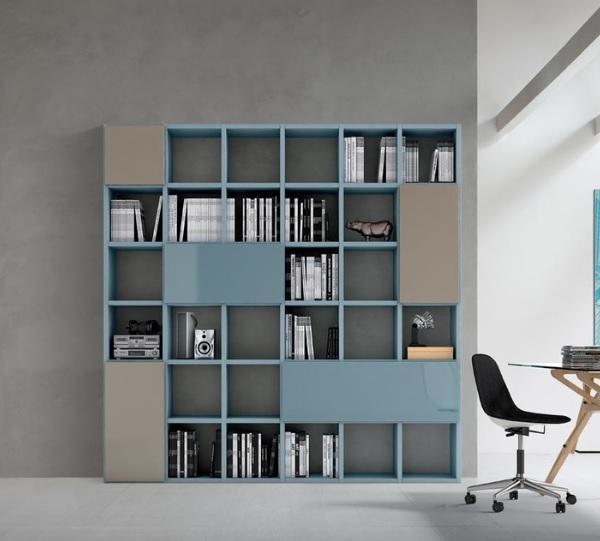 Libreria moderna Slim da soggiorno design Maronese ...