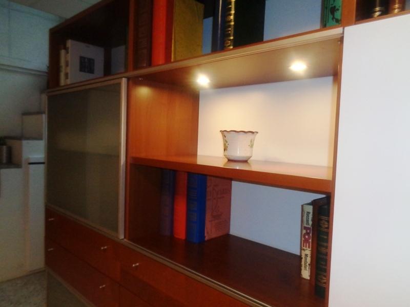 Soggiorno mida 2 mobile soggiorno essenza ciliegio legno pareti ...