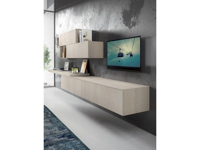 Mobil Spa Mobile per televisione Laminato Materico Componibili Moderno