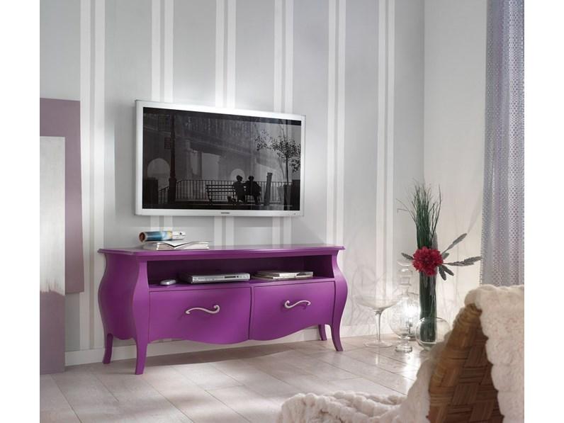 Soggiorno Mobile bombato design Legno Porta Tv