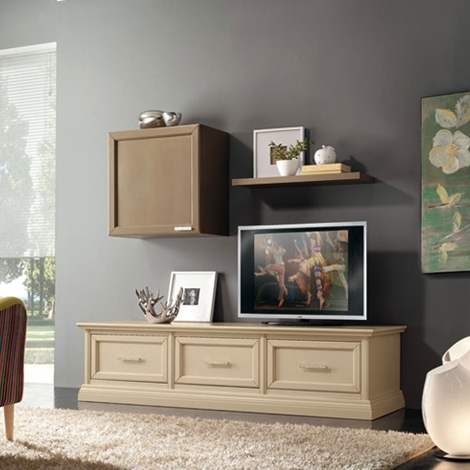 Soggiorno mobile porta TV in legno style classico - Soggiorni a ...