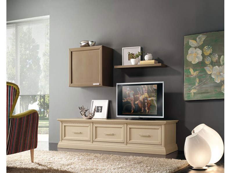 Soggiorno mobile porta TV in legno style classico