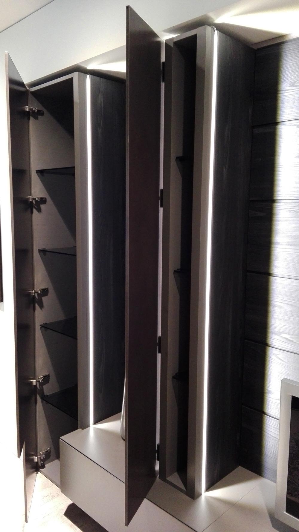 Soggiorno moderno blade modulnova parete attrezzata for Parete attrezzata design moderno