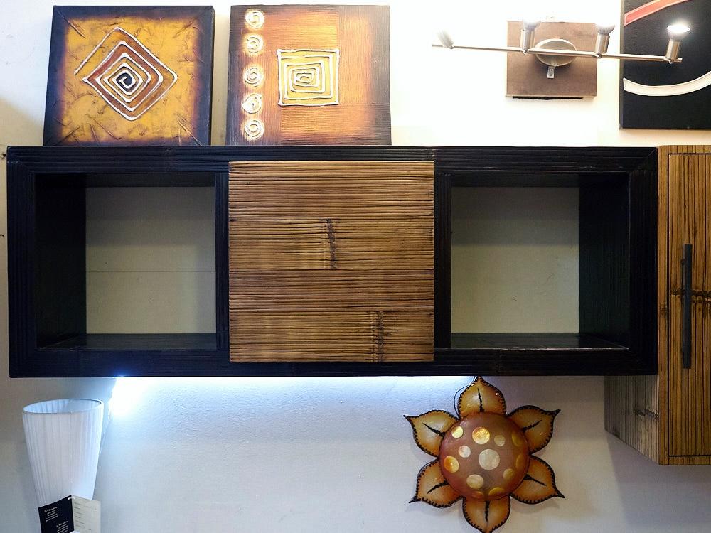 soggiorno moderno essential legno /bambu in offerta outlet ...