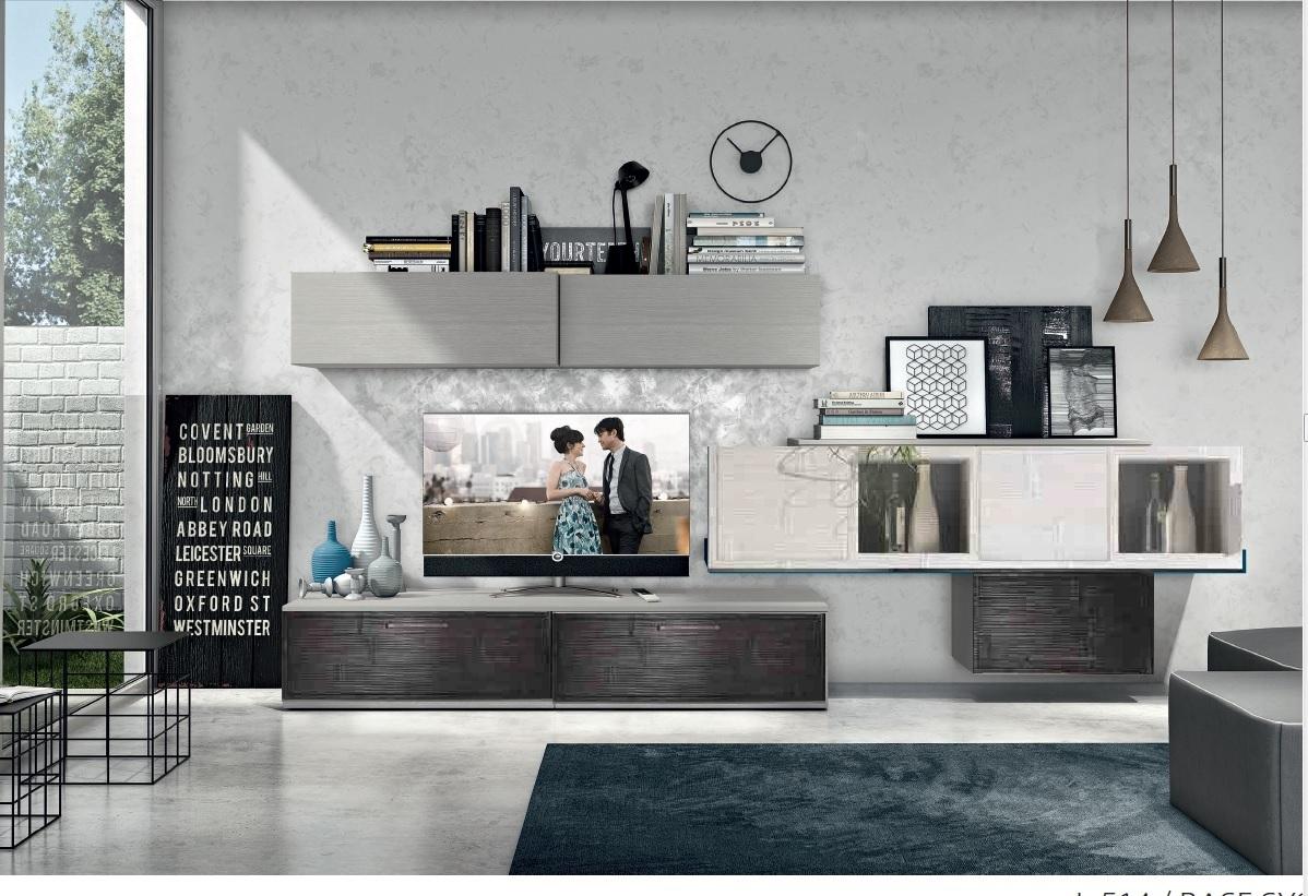 Soggiorno grigio e legno idee per il design della casa - Soggiorno in legno ...
