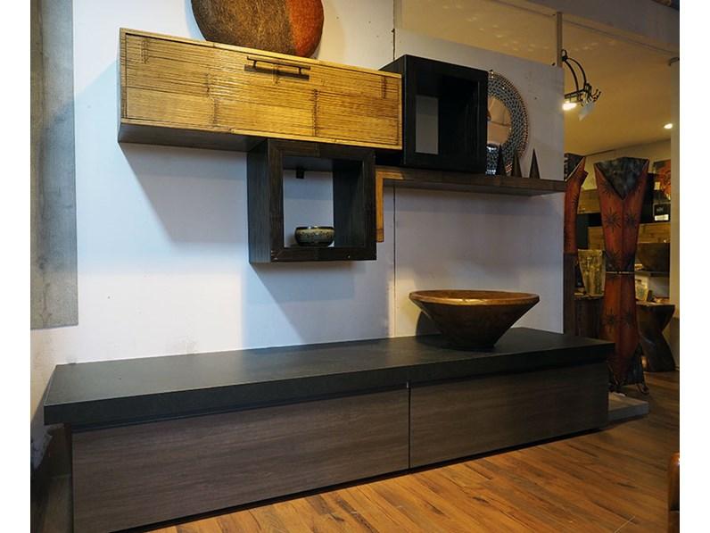 soggiorno moderno zen grey crash bambu in offerta convenienza ...