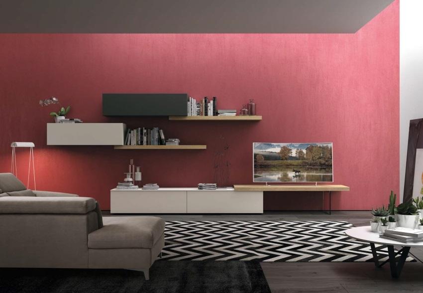 soggiorno moderno minimal etnic in offerta convenienza - soggiorni ... - Parete Soggiorno Minimal