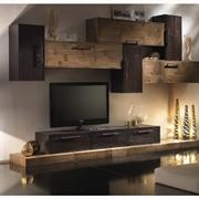 soggiorno moderno legno crash bambu noce e miele   in offerta outlet arredamento nuovimondi